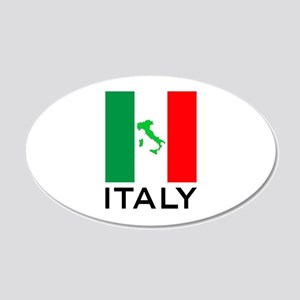 italy flag 01 20x12 Oval Wall Decal