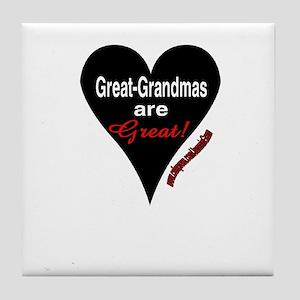 GR GRANDMAS R GREAT Tile Coaster