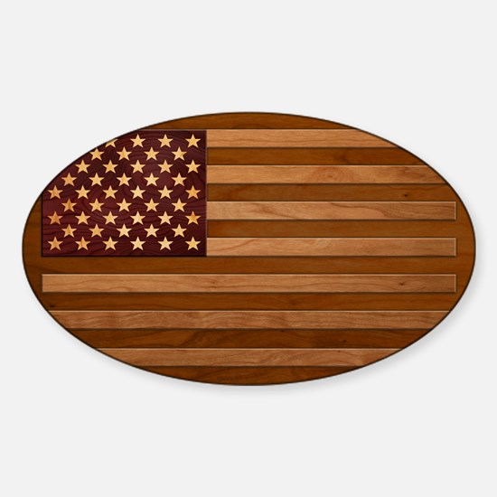 Wooden Glory Sticker (Oval)