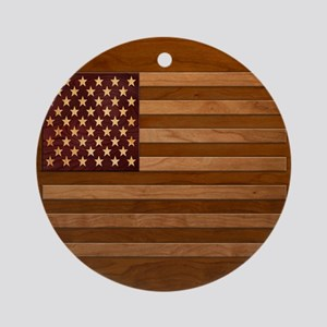 Wooden Glory Ornament (Round)