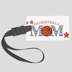 Basketbll Mom Large Luggage Tag