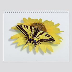 Tiger Swallowtail Butterfly & Daisy Wall Calendar