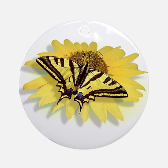 Tiger Swallowtail Butterfly & Dai Ornament (Round)