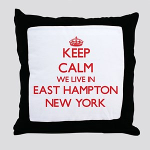 Keep calm we live in East Hampton New Throw Pillow