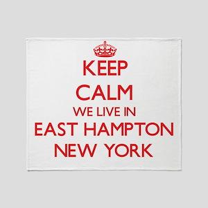 Keep calm we live in East Hampton Ne Throw Blanket