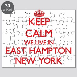 Keep calm we live in East Hampton New York Puzzle