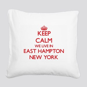Keep calm we live in East Ham Square Canvas Pillow