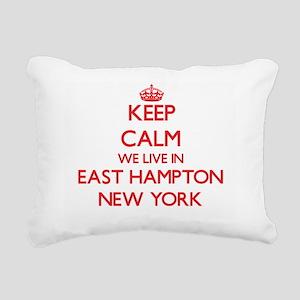 Keep calm we live in Eas Rectangular Canvas Pillow