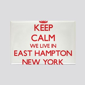 Keep calm we live in East Hampton New York Magnets