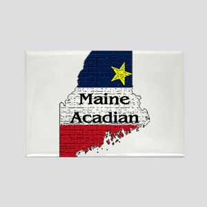 Maine Acadian State graphic Rectangle Magnet (10 p