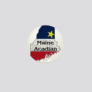 Maine Acadian State graphic Mini Button
