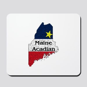 Maine Acadian State graphic Mousepad