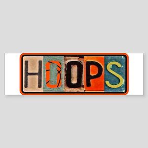 Basketball Hoops Bumper Sticker