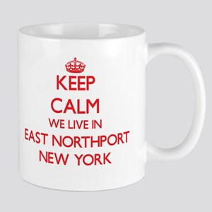 Keep calm we live in East Northport New York Mugs