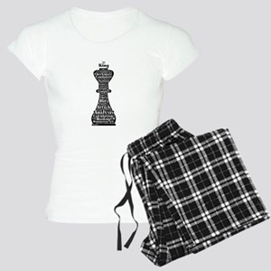 Chess Word Art Women's Light Pajamas