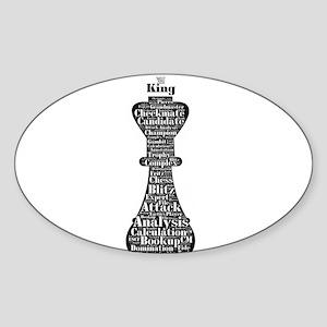 Chess Word Art Sticker