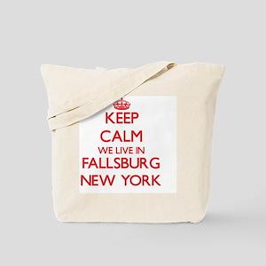 Keep calm we live in Fallsburg New York Tote Bag