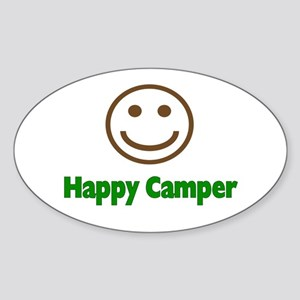 Happy Camper Oval Sticker