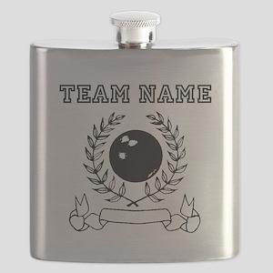 Bowling Laurel Bowling Team Flask