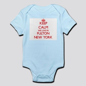 Keep calm we live in Fulton New York Body Suit
