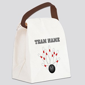 Strike Bowling Team Canvas Lunch Bag