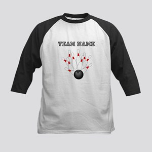 Strike Bowling Team Baseball Jersey