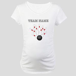 Strike Bowling Team Maternity T-Shirt