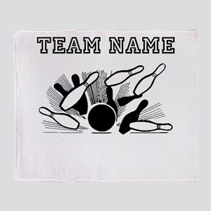 Strike Bowling Team Throw Blanket