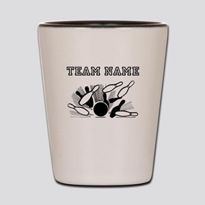 Strike Bowling Team Shot Glass