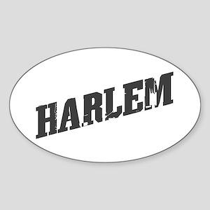 HARLEM ANGLE Oval Sticker