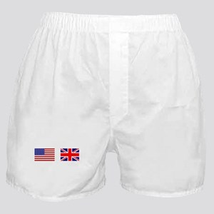 USA UK Flags for White Stuff Boxer Shorts