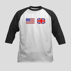USA UK Flags for White Stuff Baseball Jersey