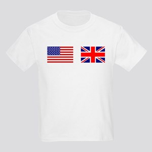 USA UK Flags for White Stuff T-Shirt