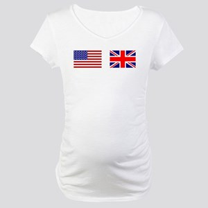 USA UK Flags for White Stuff Maternity T-Shirt