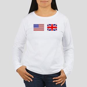 USA UK Flags for White Stuff Long Sleeve T-Shirt