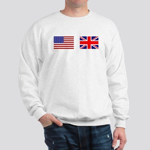 USA UK Flags for White Stuff Sweatshirt