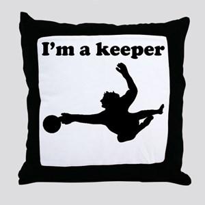 Im A Keeper Throw Pillow
