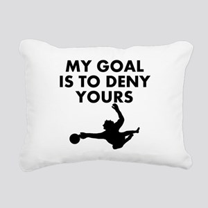 My Goal Is To Deny Yours Rectangular Canvas Pillow