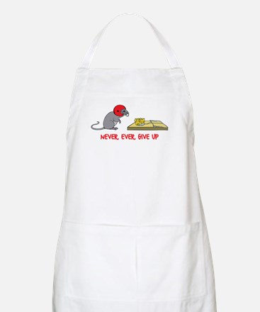 Never ever give up Apron