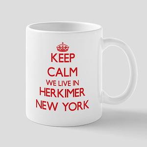 Keep calm we live in Herkimer New York Mugs
