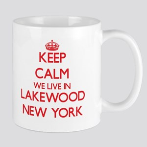 Keep calm we live in Lakewood New York Mugs
