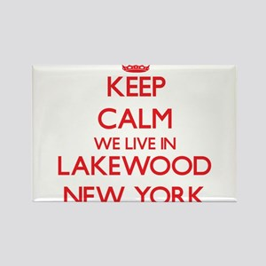 Keep calm we live in Lakewood New York Magnets