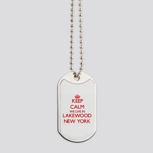 Keep calm we live in Lakewood New York Dog Tags