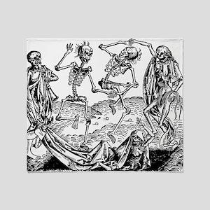 Danse Macabre Throw Blanket