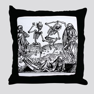 Danse Macabre Throw Pillow