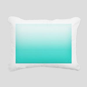 Elegant Turquoise Ombre  Rectangular Canvas Pillow