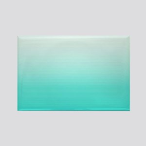 Elegant Turquoise Ombre Pattern Magnets