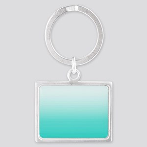 Elegant Turquoise Ombre Pattern Keychains