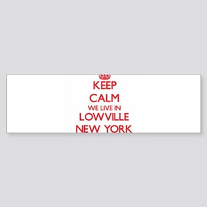 Keep calm we live in Lowville New Y Bumper Sticker