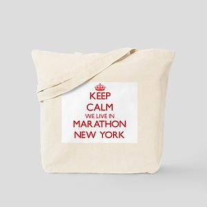 Keep calm we live in Marathon New York Tote Bag